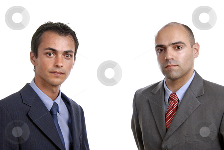 Young stock photo, Two young business men portrait on white by Rui Vale de Sousa