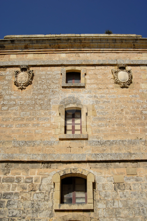 Ancient stock photo, Ancient building detail in the island of malta by Rui Vale de Sousa