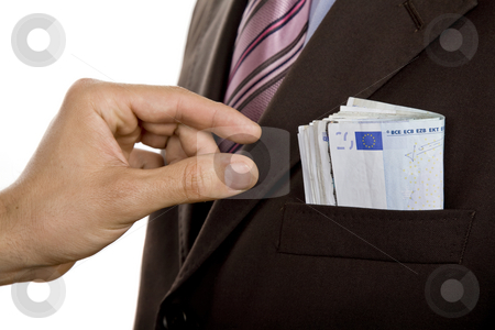 Robery stock photo, Man hand taking money from a pocket by Rui Vale de Sousa