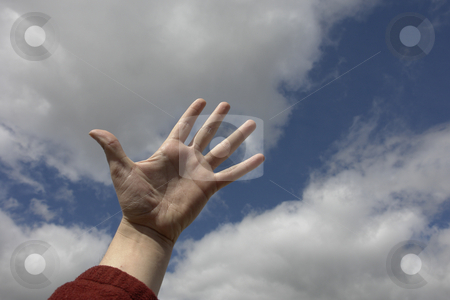 Hand stock photo, Hand in the sky by Rui Vale de Sousa