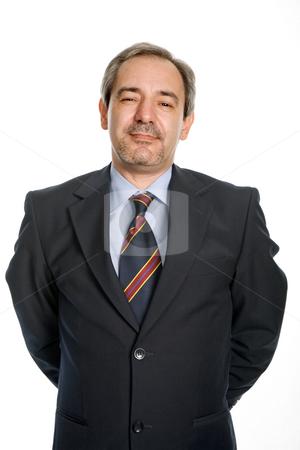 Happy stock photo, Mature business man portrait in white background by Rui Vale de Sousa