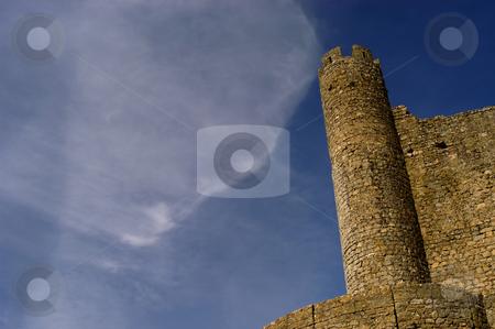 Cloud stock photo, Portuguese ancient castle by Rui Vale de Sousa