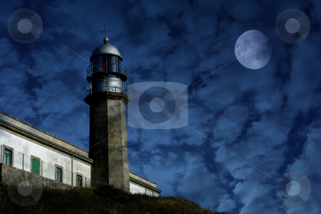 Lighthouse stock photo, Old lighthouse in the coast of spain by Rui Vale de Sousa