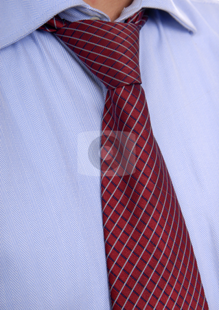 Tie stock photo, Detail of a Business man Suit with red tie by Rui Vale de Sousa