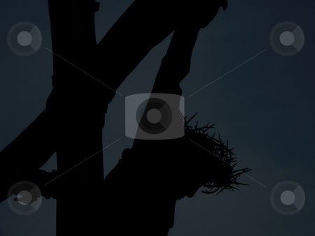 Crucifixion Silhouette - Background - Pattern stock photo, Crucifiction Silhouette - Background - Pattern by Dazz Lee Photography