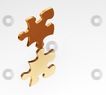 Balance stock photo, 3D render of a balancing puzzle piece by Kirsty Pargeter