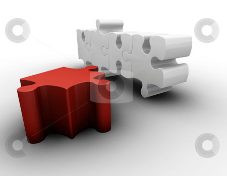 Puzzle pieces stock photo, 3D render of puzzle pieces by Kirsty Pargeter