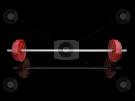 Weight on Black Background stock photo,  by Kirsty Pargeter