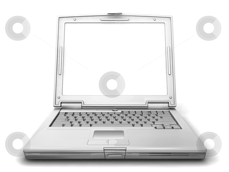 Generic laptop stock photo, 3D render of a generic laptop by Kirsty Pargeter