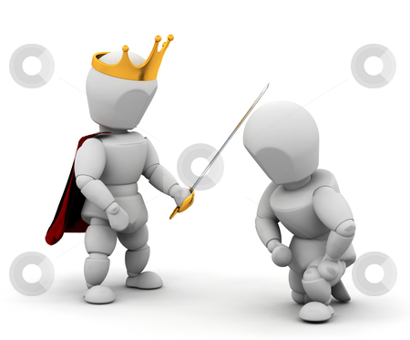 Person getting knighthood stock photo, 3 render of someone getting knighthood by Kirsty Pargeter