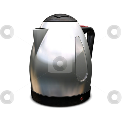 Kettle stock photo, 3D render of a contemporary kettle by Kirsty Pargeter