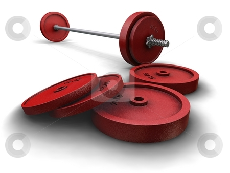 Weights on White stock photo,  by Kirsty Pargeter