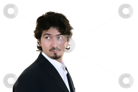 Boss stock photo, Young man portrait in a white background by Rui Vale de Sousa