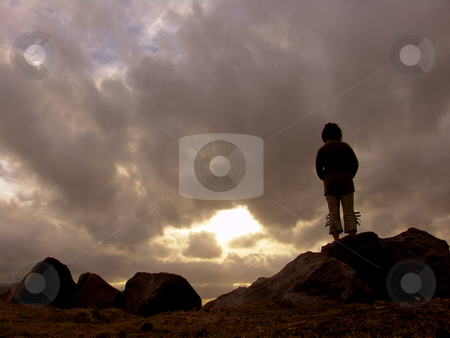 Woman stock photo, Woman at the sunset by Rui Vale de Sousa