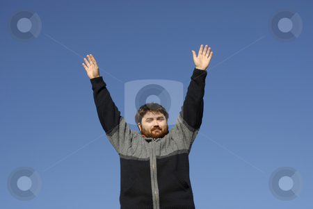 Wide open stock photo, Young casual man with the arms wide open by Rui Vale de Sousa