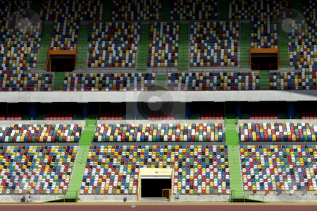 Stadium stock photo, Detail of a soccer stadium in portugal by Rui Vale de Sousa
