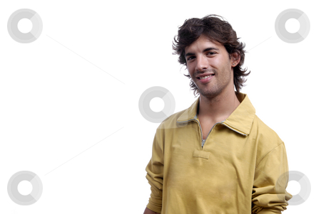 Young stock photo, Casual young man portrait isolated on white background by Rui Vale de Sousa