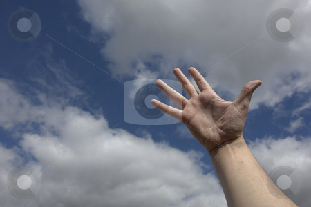 Spirit stock photo, Hand in the clouds by Rui Vale de Sousa