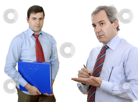 Workers stock photo, Two young business men portrait, focus on the right man by Rui Vale de Sousa