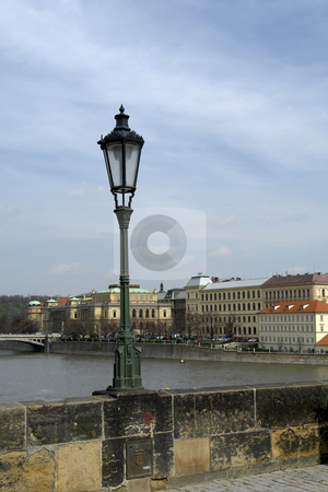 Candle stock photo, Candle on karluv bridge in prague by Rui Vale de Sousa