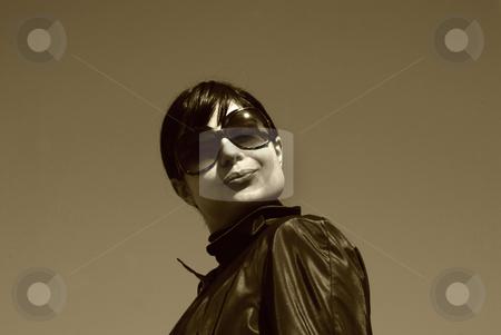 Alone stock photo, Young casual girl portrait in the sun light by Rui Vale de Sousa