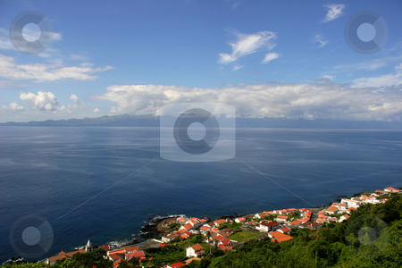 Village stock photo, Azores village on the coast by Rui Vale de Sousa