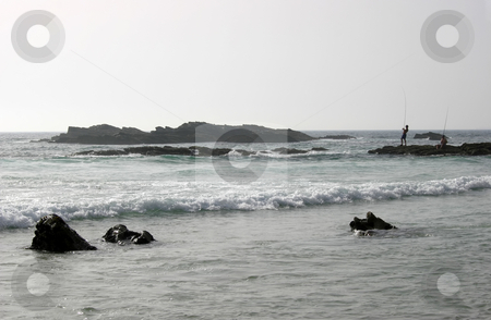 Fishermen stock photo, Fisherman on the beach by Rui Vale de Sousa