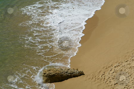 Beach stock photo, White wave in the sand at the beach by Rui Vale de Sousa