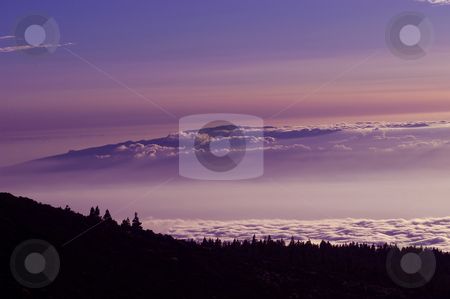 Clouds stock photo, Clouds at the mountains at the sunset, in tenerife island by Rui Vale de Sousa
