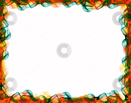 Frame stock photo, Decorative framework, colored smoke over white paper by Rui Vale de Sousa