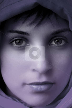 Woman stock photo, Young beautiful exotic woman close up portrait by Rui Vale de Sousa