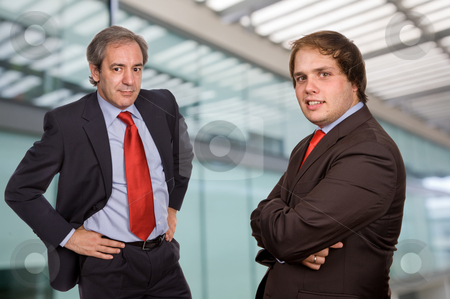 Businessmen stock photo, Two business men portrait in a modern office building by Rui Vale de Sousa