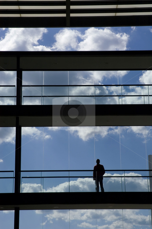 Alone stock photo, Young business man in the office building by Rui Vale de Sousa