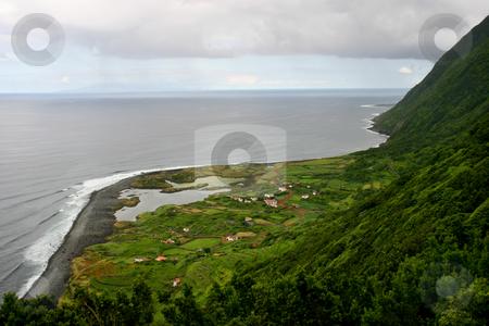 Azores stock photo, Farm on the azores coast by Rui Vale de Sousa