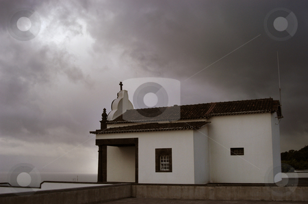 Church stock photo, A church in the top of the mountain, in Azores by Rui Vale de Sousa