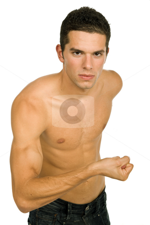Sensual man stock photo, Young sensual man on a white background by Rui Vale de Sousa