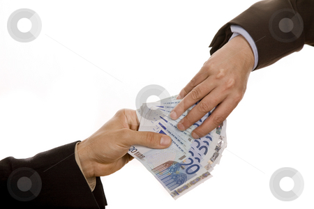 Money stock photo, Person takes money from another person, detail by Rui Vale de Sousa