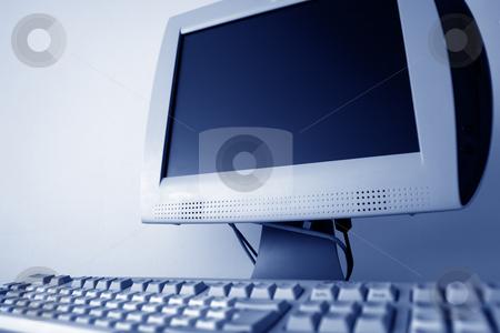 Computer stock photo, Monitor of a computer in a classroom by Rui Vale de Sousa