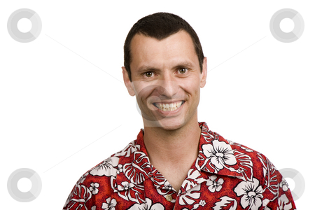 Happy stock photo, Young casual man portrait in white background by Rui Vale de Sousa