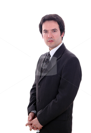Male stock photo, Portrait of a young businessman isolated on white by Rui Vale de Sousa