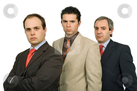 Businessmen stock photo, Three business men isolated on white background by Rui Vale de Sousa