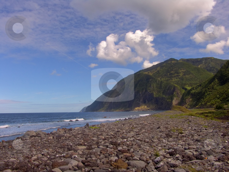 Rocks stock photo, Azores beach by Rui Vale de Sousa