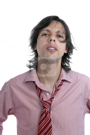 Abandoned stock photo, Young casual man portrait in white background by Rui Vale de Sousa