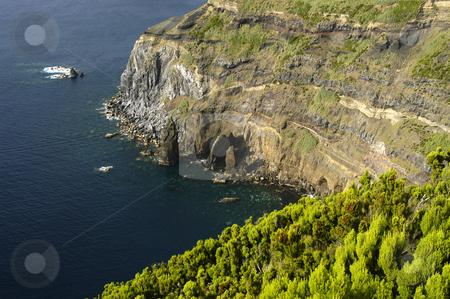 Cliff stock photo, Azores coastal cliff by Rui Vale de Sousa