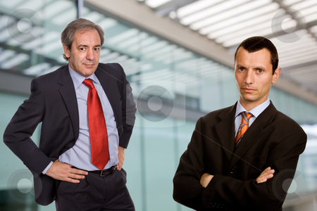 Business men stock photo, Two business men in a modern office building by Rui Vale de Sousa