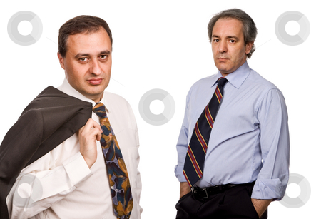 Businessmen stock photo, Two business men isolated on white background by Rui Vale de Sousa