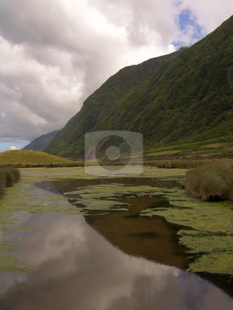 Azores lake stock photo, The azores lake of Christ in S. Jorge Island by Rui Vale de Sousa