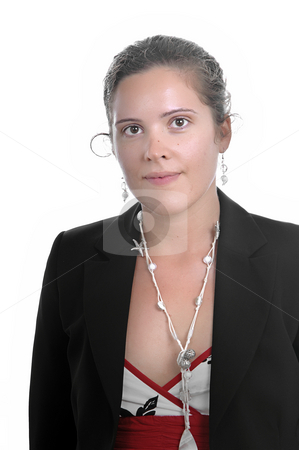 Woman stock photo, Business woman portrait, isolated over a white background by Rui Vale de Sousa