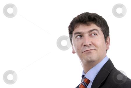 Portrait stock photo, Young business man portrait in white background by Rui Vale de Sousa