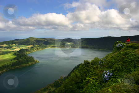 Lake stock photo, Azores lake of fire by Rui Vale de Sousa